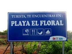 Turist, you find yourself in: Playa El Floral. Also know as Punta Mango.