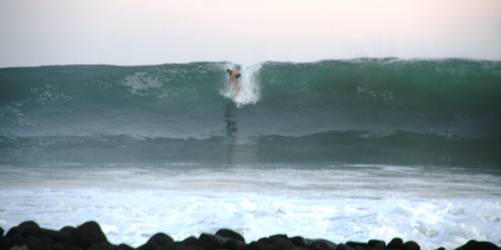 Big size wave at Punta Mango, El Salvador.
